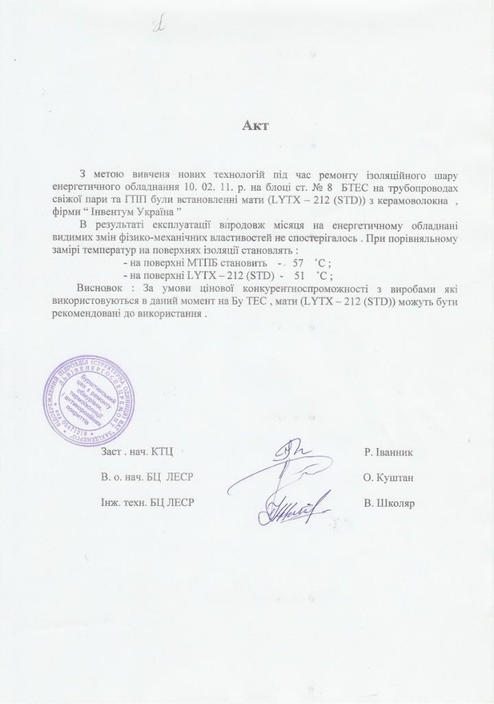 акт по Бурштыну
